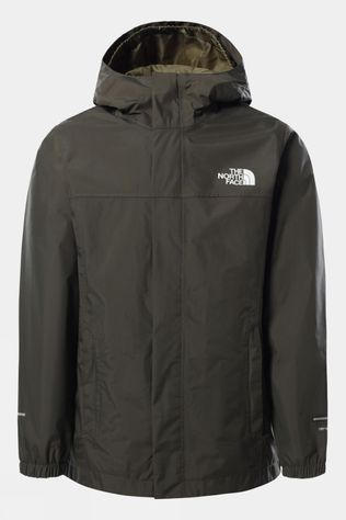 The North Face Boys Resolve Reflective Jacket New Taupe Green