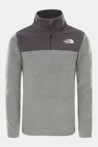 The North Face Youth Glacier Blocked 1/4 Zip Fleece Grey