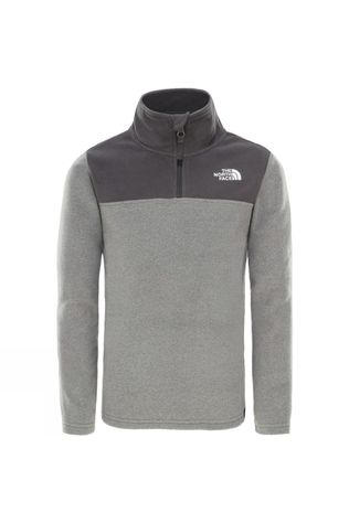 The North Face Youth Glacier Blocked 1/4 Zip 14+ Grey