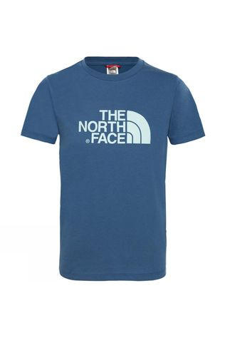 The North Face Boy's Short Sleeve Easy Tee Shady Blue/Canal Blue