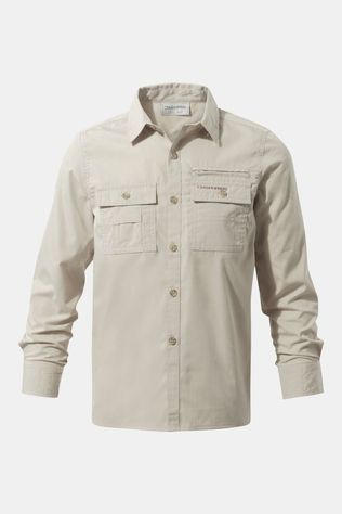 Craghoppers Boys Adventure Trek Long Sleeve Shirt Oatmeal