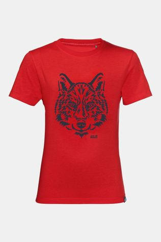 Jack Wolfskin Kids Brand T-Shirt peak red