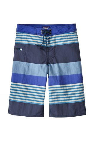 Patagonia Boys Wavefarer Boardshorts 14+ Fitz Stripe Railroad Blue