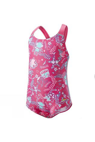 Speedo Kids Seasquad Allover Swimsuit Vegas Pink/ Pink Splash