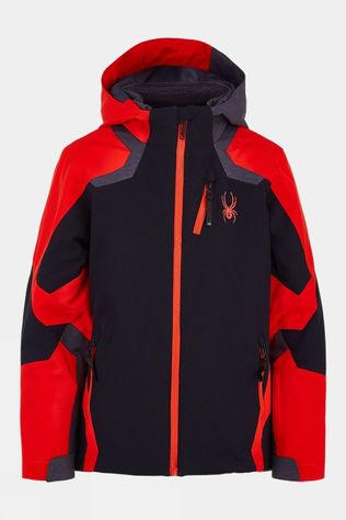 Spyder Boys Leader Jacket 14+ Black/Volcano