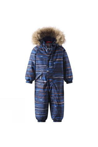 Reima Boys Lappi Winter Overall Blue Stripe