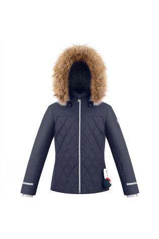 Girls Diamond Quilted Ski Jacket