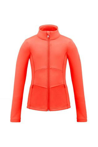 Poivre Blanc Girl's Stretch Fleece Jacket Clementine Orange