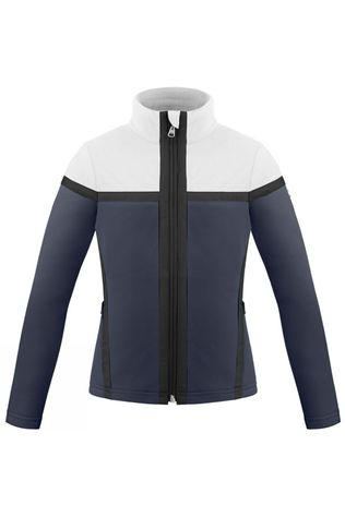 Poivre Blanc Girl's Hybrid Fleece Jacket Gothic Blue3/White
