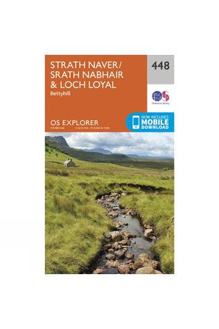 Ordnance Survey Explorer Map 448 Strath Naver and Loch Loyal V15