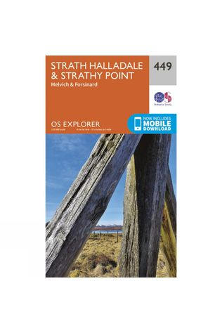 Ordnance Survey Explorer Map 449 Strath Halladale and Strathy Point V15