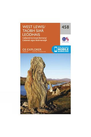 Ordnance Survey Explorer Map 458 West Lewis V15
