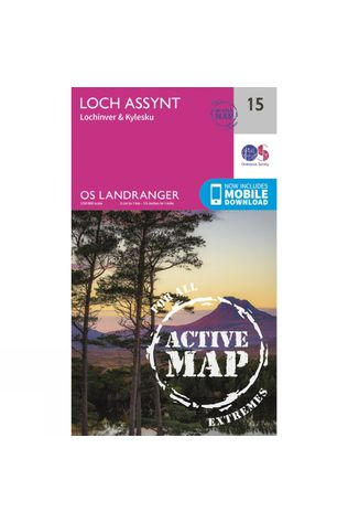 Ordnance Survey Active Landranger Map 15 Loch Assynt V16