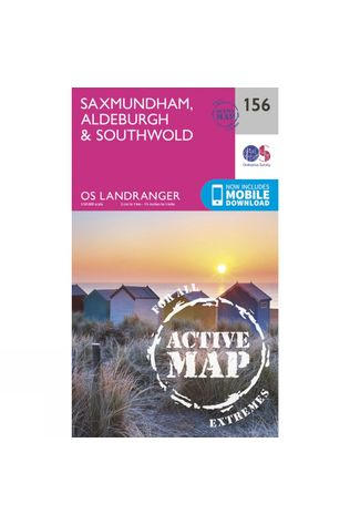 Ordnance Survey Active Landranger Map 156 Saxmundham, Aldeburgh and Southwold V16