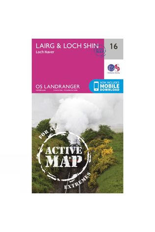 Ordnance Survey Active Landranger Map 16 Lairg and Loch Shin V16