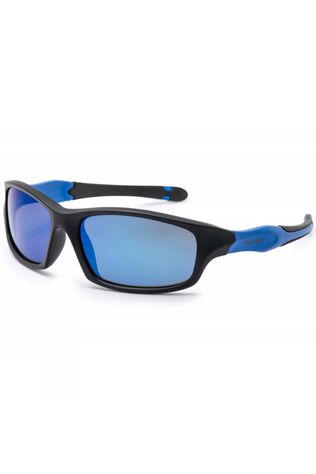 Bloc Kids Spider Sunglasses Matt Black/Blue Mirror