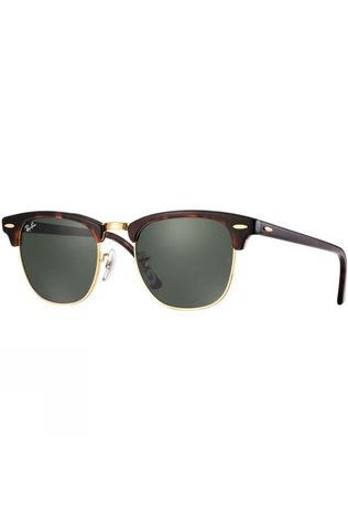 Ray Ban Clubmaster Sunglasses Mock Tortoise/ Arista/ Green