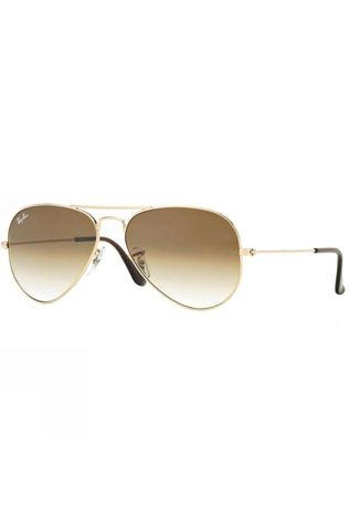 Ray Ban Aviator Sunglasses Gold/ Crystal Brown Gradient
