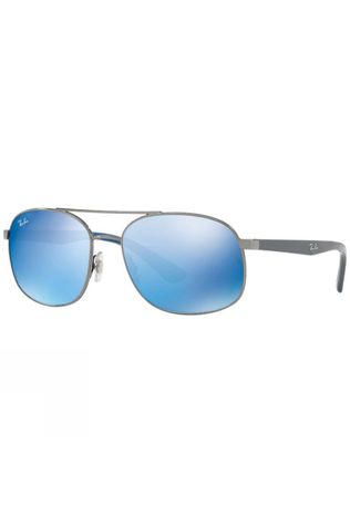 Ray Ban RB3593 Sunglasses Gunmetal/ Blue Mirror Blue
