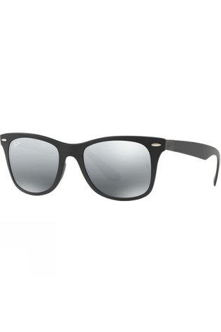 Ray Ban Wayfarer Liteforce Sunglasses Matte Black/ Grey Mirror Silver Gradient