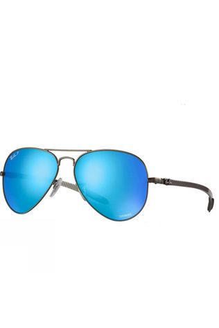 Ray Ban RB8317 Chromance Sunglasses Matte Gunmetal/ Green Mirror Blue Polar Avi