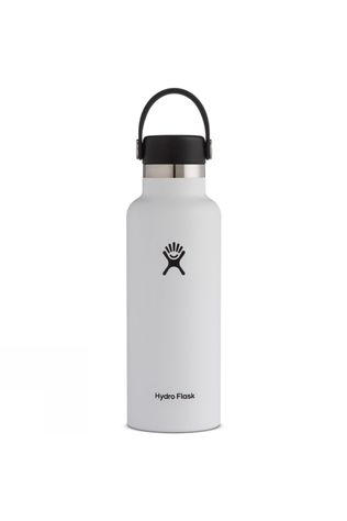 Hydro Flask Standard Mouth 18oz with Flex Cap White