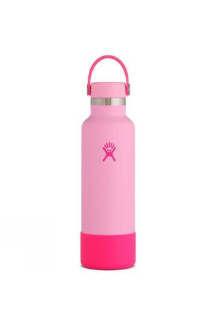 Hydro Flask Prism Standard Mouth 21oz with Flex Cap & Boot Bright Pink