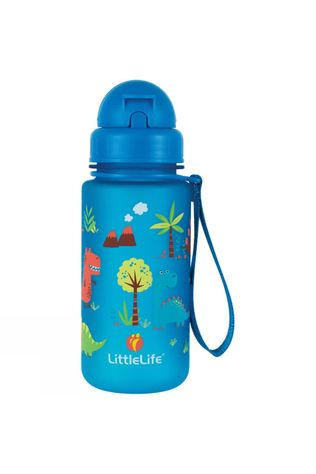 LittleLife Kids Dinosaur Water Bottle 400ml Blue