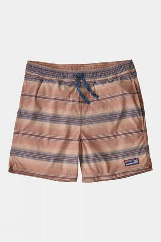 Patagonia Mens Stretch Wavefarer Volley Shorts 16in Rotation/Mellow Melon