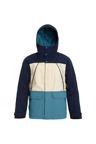 Burton Men's Breach Jacket Dress Blue//Almond Milk/Storm Blue