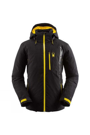 Spyder Mens Tripoint GTX Jacket Black (Yellow Zip)