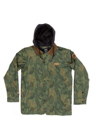 Planks Men's Throw-Down Collared Jacket Jungle Palm