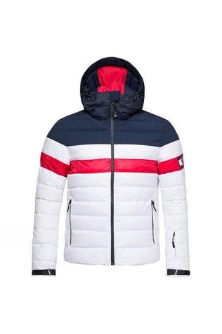 Mens Colour Block Quilted Down Jacket