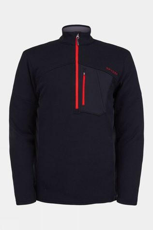 Spyder Mens Bandit Half Zip Sweater Black/Red