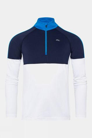 KJUS Mens Race Midlayer Half-Zip White-Atlanta Blue