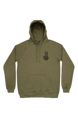 Planks Mens Hand Of Shred Hoodie Army Green
