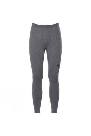 Odlo Mens Performance Warm Long Pant Grey Melange - Black