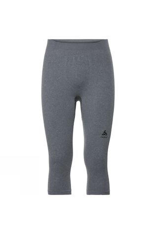 Odlo Mens Performance Warm 3/4 Pant Grey Melange - Black