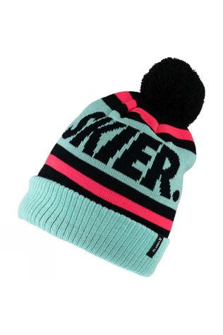 Planks Skier Bobble Hat Teal
