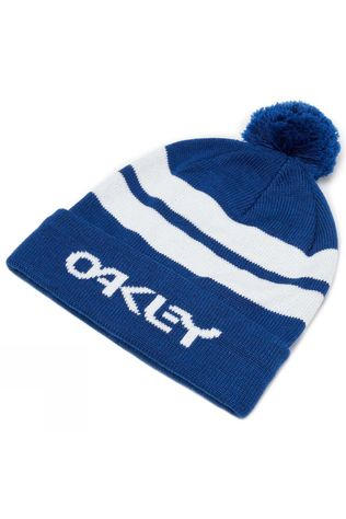 Oakley Mens B1B Striped Logo Beanie Dark Blue
