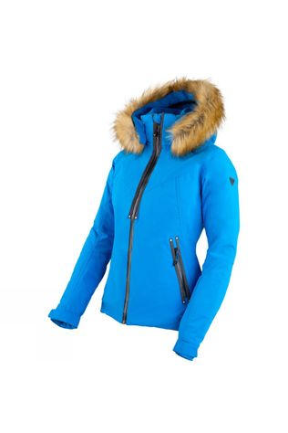 Degre 7 Womens Faux Fur Geod Jacket Ultra Blue