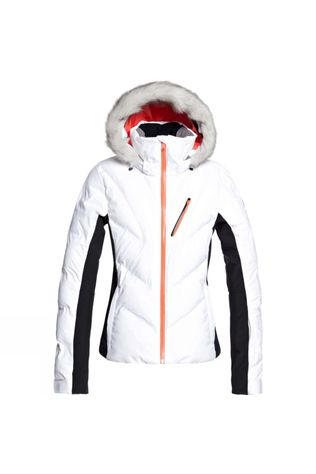 Roxy Womens Snowstorm Jacket Bright White
