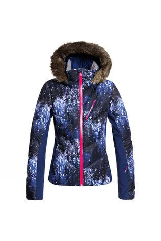 Roxy Womens Snowstorm Plus Jacket Medieval Blue Sparkles