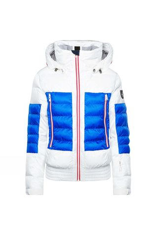 Toni Sailer Sports Womens Muriel Jacket White/Red/Blue