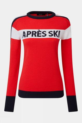 Henjl Women's Après Ski Knitted Sweater Red