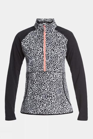 Roxy Womens Cascade Fleece True Black Pop Animal