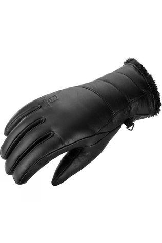 Salomon Women's Native Leather Ski & Snowboard Glove Black / Black Lining