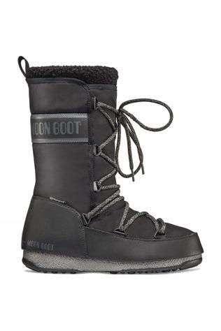 Moon Boots Womens Monaco Wool WP Boot BLACK