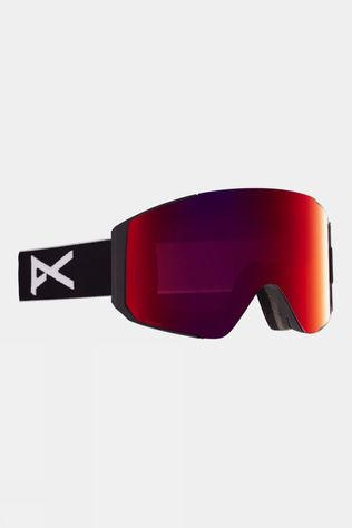 Anon Men's Sync Goggle (Spare Lens Included) Black / Perceive Sunny Red & Cloudy Burst