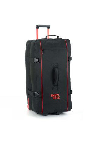 Snow and Rock 100L Vacation Wheelie Black / Red